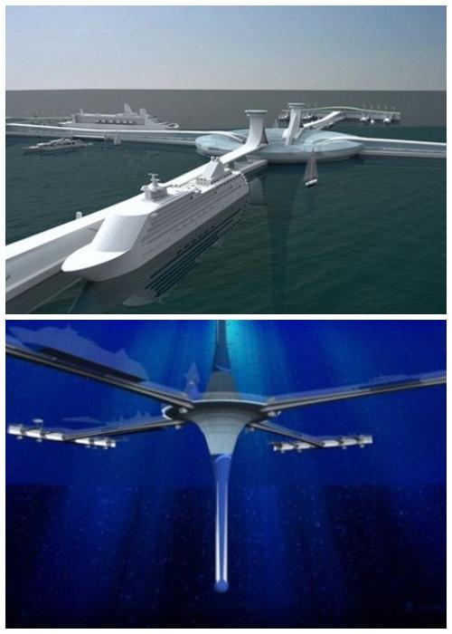 The Gyre – плавучий подводный небоскреб, достигающий глубины 400 метров (дизайн компании Zigloo).
