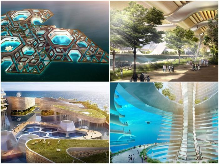 Столь амбициозный проект в уменьшенном масштабе планируют внедрять уже в следующем году (концепт «Eco Atlantis»). | Фото: thejrtthoughts.blogspot.com.