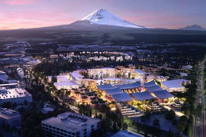 Toyota готовит участок у подножия горы Фудзи для создания амбициозного технологического испытательного стенда «умный город» (концепт «Woven City»). | Фото: newatlas.com.