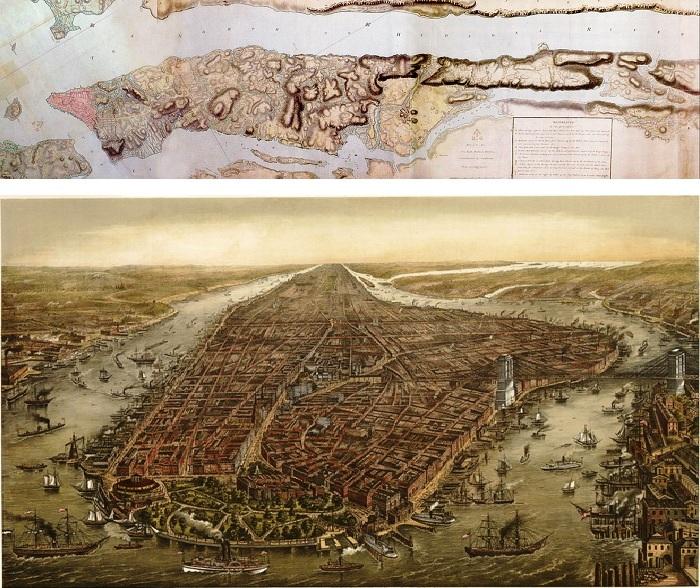 Так выглядел остров 1782 и 1893 гг.