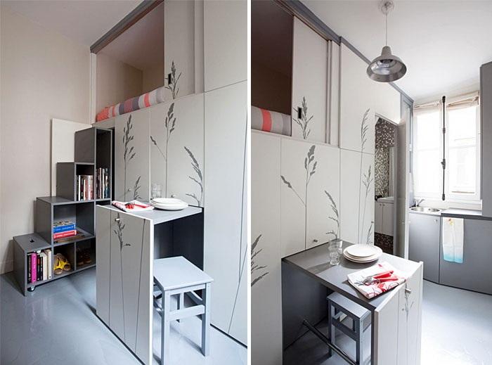 Смарт-шкаф может спрятать даже обеденный стол.