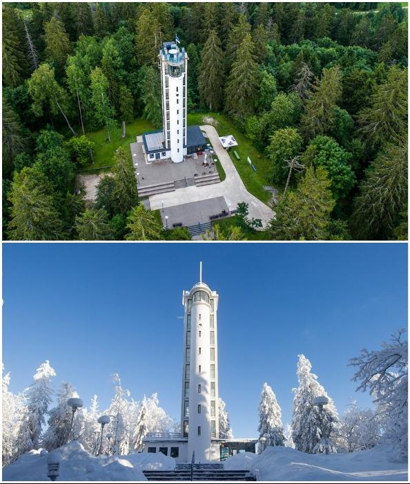 Лифт на вершине самой высокой горы стран Балтии превратился в занимательный аттракцион.