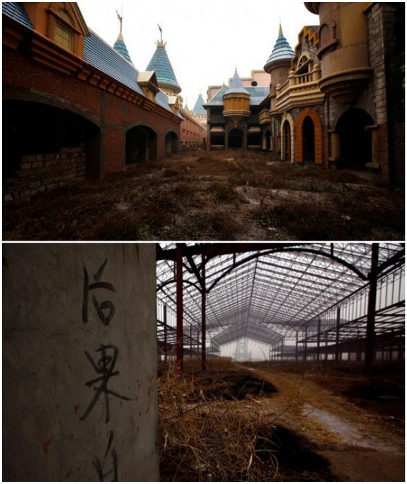Вместо шума и веселья – недостроенные и уже обветшалые аттракционы (Wonderland, Chenzhuang).