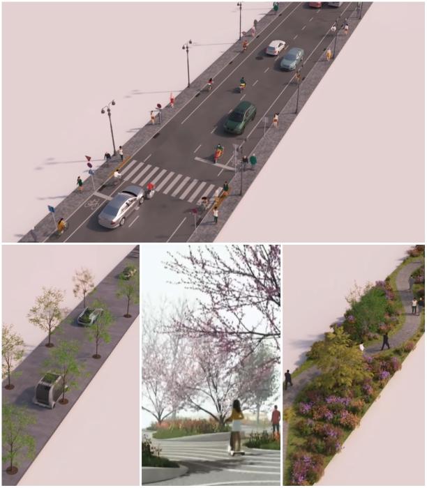 В приоритете планировки «умного» города будет полное разграничение маршрутов движения (концепт «Woven City»). | Фото: youtube.com/ © CNET Highlights.