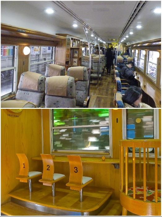 Ежедневно туристический поезд «Ibusuki no Tamatebak» совершает 3 рейса. | Фото: pikabu.ru.