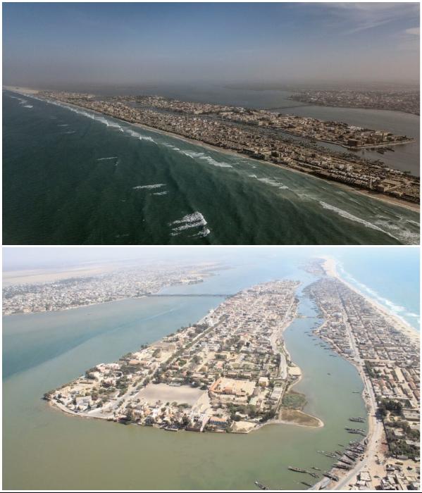 Бывшая столица Сенегала, известная как «Венеция Африки», проигрывает битву поднимающимся водам Атлантики (Saint Louis). | Фото: teleambiente.it/ bigpicture.ru.