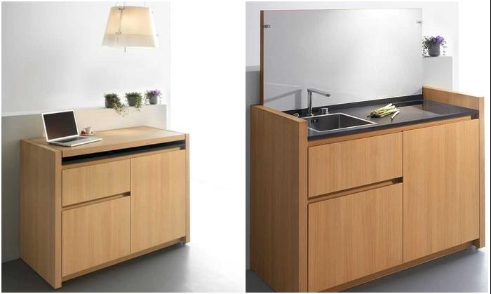 Первая модель Мini kitchen K1, которую выпустила компания Kitchoo. | Фото: pinterest.com.