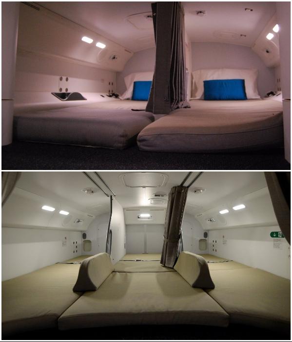 Обустройство и размер комнат для сна зависят от модели авиалайнера. | Фото: infor-semestern.newsner.com.