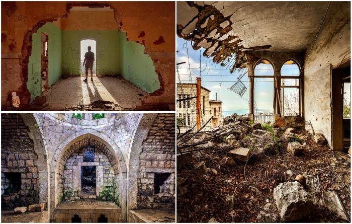 Такими увидел британский фотограф заброшенные архитектурные шедевры Ливана (фотопроект «A Paradise Lost»).   Фото: architecturaldigest.in/ jameskerwin.uk, © James Kerwin.