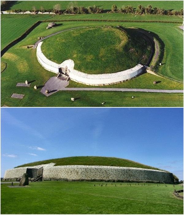 Культовое сооружение Ньюгрейндж, расположенное в Ирландской долине Бойн, было построено в 2500 г. до н.э. | Фото: lifeglobe.net.