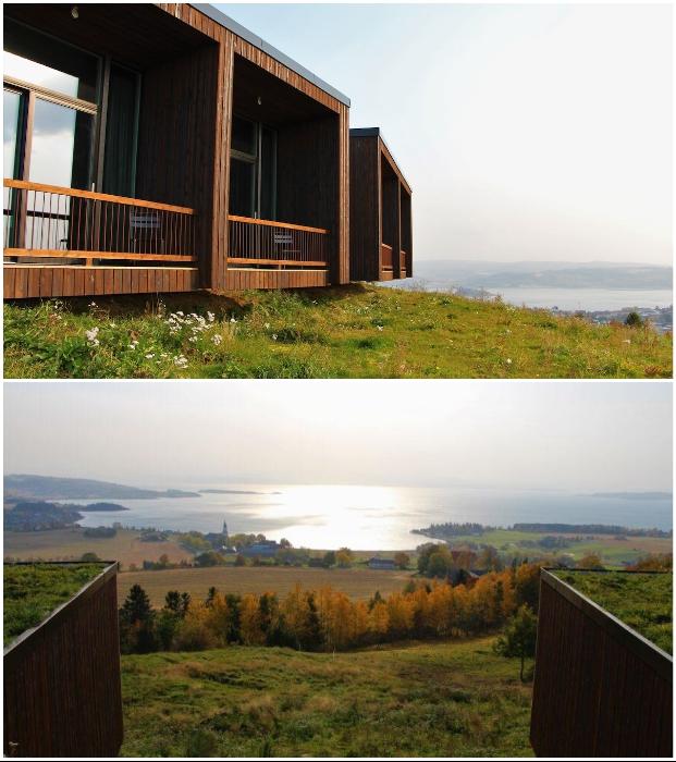 Нестандартное расположение и прекрасный вид из окна придутся по душе любителям тихого отдыха («Культурный ландшафт Эйны», Норвегия).