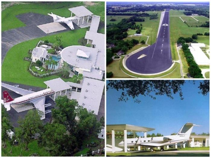 На территории особняка (площадь 2,2 кв. км.) есть павильоны для самолетов и собственный центр управления полетами. | Фото: 2018.xzdec.com.
