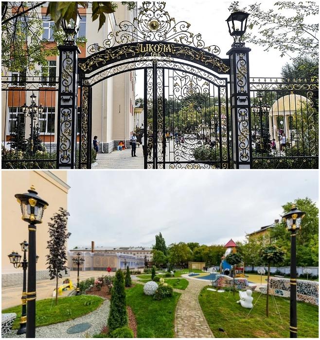 Ворота и двор Екатеринбургской школы № 106 теперь выглядят так. ekaterinburg.bezformata.com.