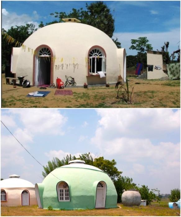 Такие купольные дома уже сейчас очень популярны в тех регионах, где существует большой риск природных катаклизмов («Domes For The World»). | Фото: interestingengineering.com.