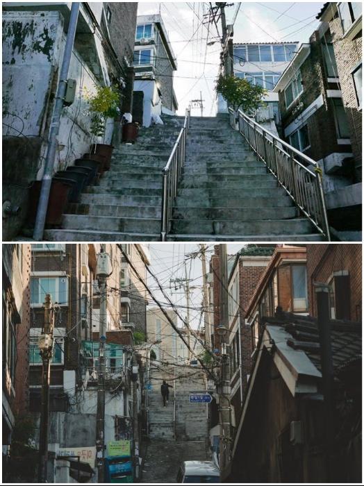 Путешествие по местам съемок фильма «Паразиты» быстро пресекаются местными жителями (Сеул, Южная Корея). | Фото: kpophit.com.
