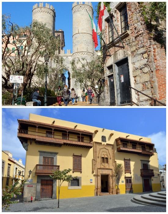 Дома, где якобы родился Христофор Колумб (Италия, Испания).