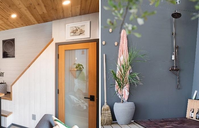 Ванная комната в крошечном доме получилась очень уютной (Galiano 100, Ванкувер). | Фото: mymodernmet.com/ Ярус Браун.