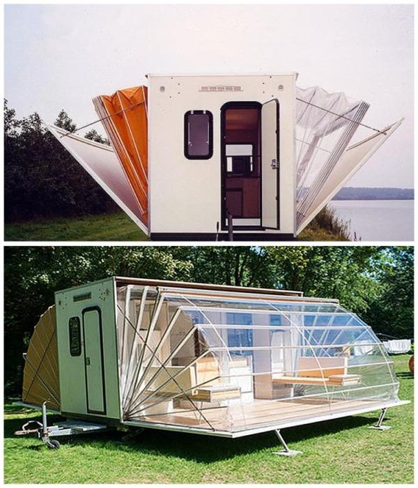 За считанные секунды фургон превращается полноценную квартиру. | Фото: blogdescalada.com.