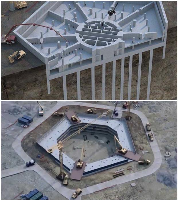 Сваи были установлены еще до того, как был создан котлован для стены в грунте «Лахта-центр» (Санкт-Петербург).