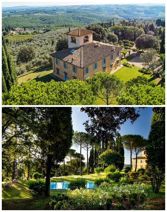 Особняк Villa Tavernaccia находится в живописном месте возле Флоренции (Италия). | Фото: luxuryretreats.com.