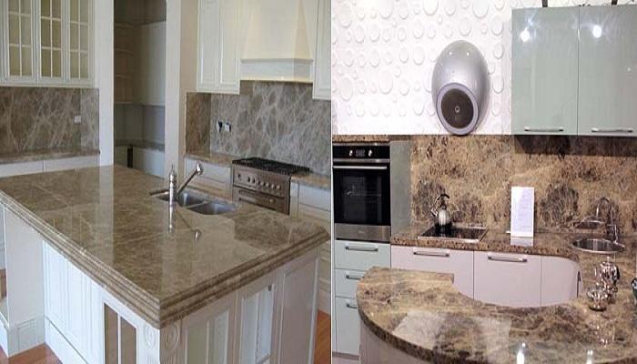 Кухонный фартук из натурального камня всегда придаст стиля и роскоши интерьеру.