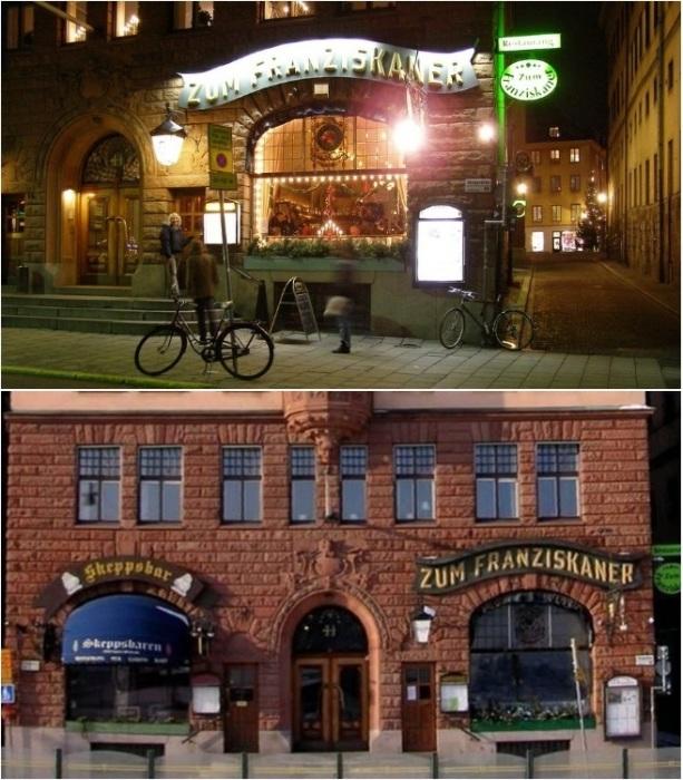 Ресторан Zum Franziskaner находится в исторической части Стокгольма и привлекает туристов (Швеция).   Фото: ru.esosedi.org.