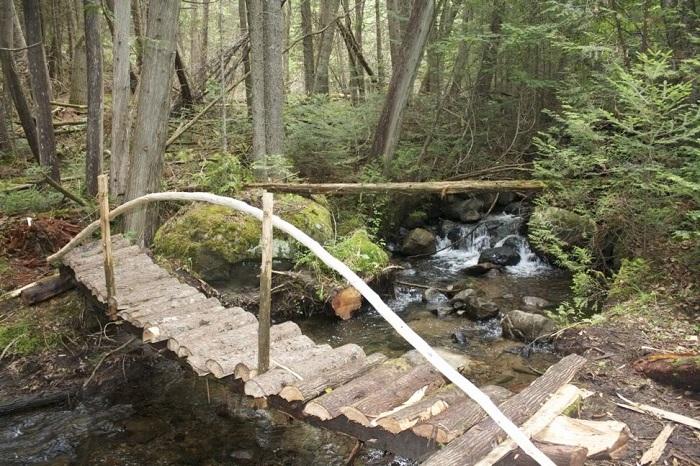 Импровизированный мостик ведущий к дому.