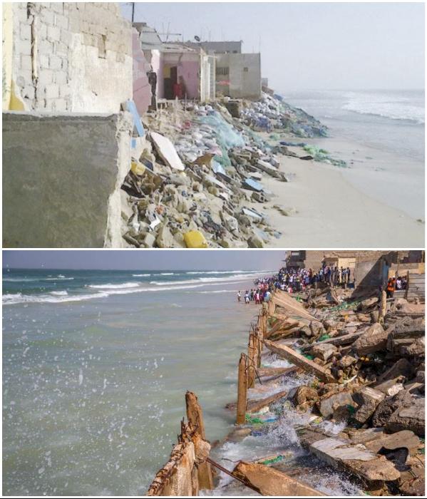 Несколько районов города не только разрушены, но и находятся под толщей воды (Saint Louis, Сенегал). | Фото: kewoulo.info/ senegalblackrainbow.org.