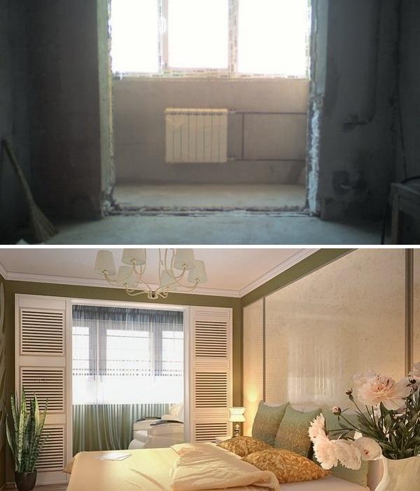 Совмещение жилых зон с лоджией или балконом требует строго выполнения определенной технологии. | Фото: krovati-i-divany.ru.