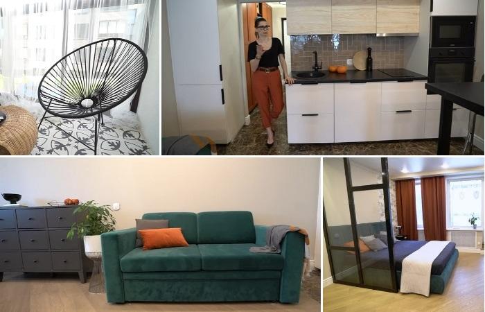 Из узкой вытянутой квартиры площадью 33 кв. м можно сделать полноценное жилье. | Фото: youtube.com/ @ INMYROOM TV.