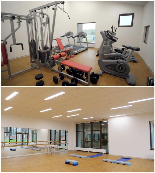 Для детей созданы тренажерный зал и комнаты для занятий йогой или фитнесом («Точка будущего», Иркутск).