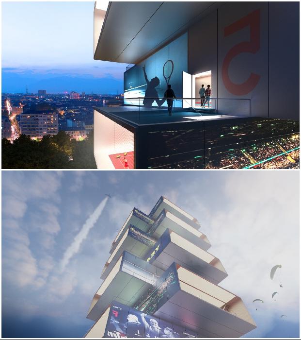 Итальянцы планируют построить небоскреб, взгромоздив друг на друга 8 теннисных кортов