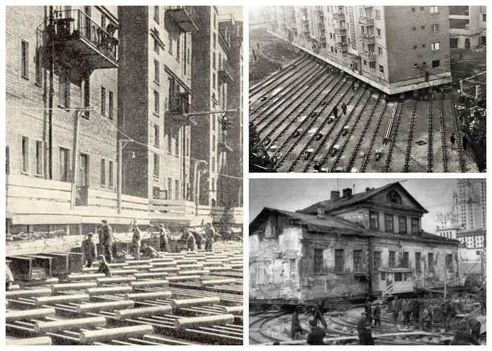 Передвижением особо ценных зданий занимался «Трест по передвижке и разборке зданий», под руководством Э.М. Генделя (Москва).