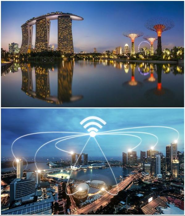 Сингапур выходит на новый уровень развития благодаря внедрению «умных» систем и коммуникационным сетям Wi-fi. | Фото: golos.io/ ru.dreamstime.com.