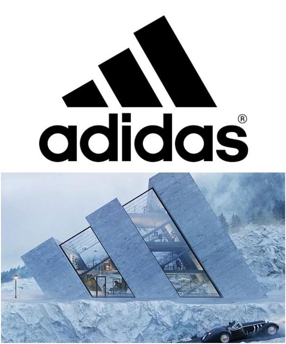 Логотип немецкого промышленного концерна Adidas стал прототипом концепта «Trihouse» .   Фото: protennis.spb.ru/ boredpanda.com, © Wamhouse.