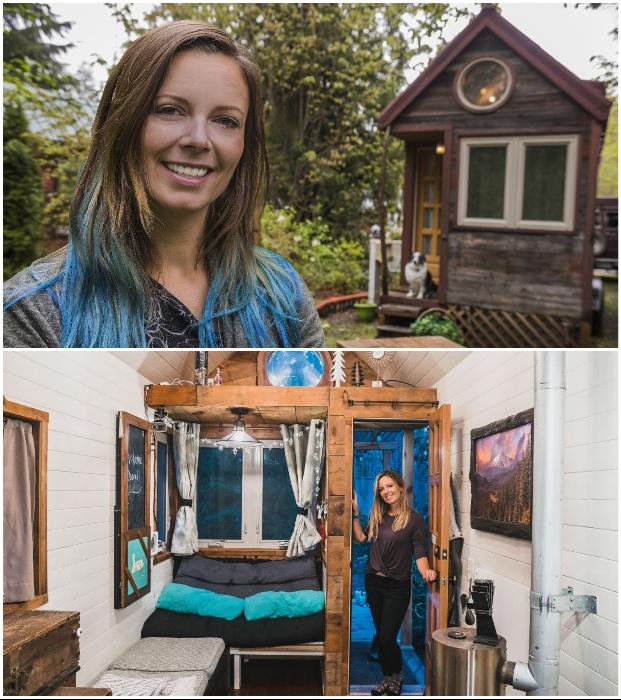 Девушка, которая много лет живет в одном из крошечных домов мира, поделилась фотоснимками своего жилища.