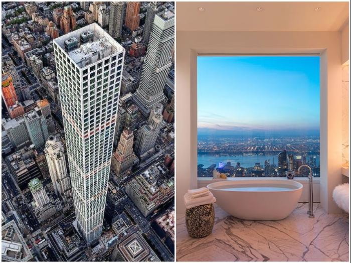 Все резиденции 432 Парк-Авеню имеют окна площадью 10 кв. м каждое, с которых открывается умопомрачительный вид (Нью Йорк, США). | Фото: number1magazine.com/ alex-mandel.livejournal.com.