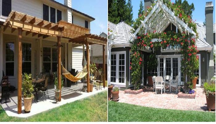 Беседка из живых растений спасет ваш дом от жары.