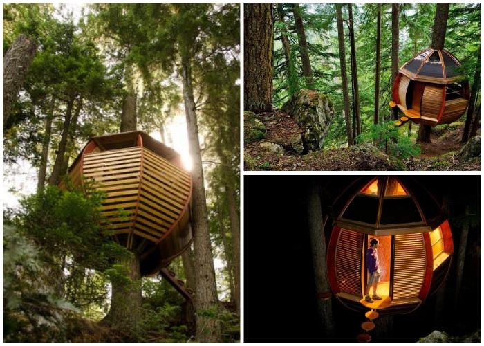 Такой сказочный домик получился благодаря многолетним стараниям Джоэла Аллена (HemLoft, Канада).