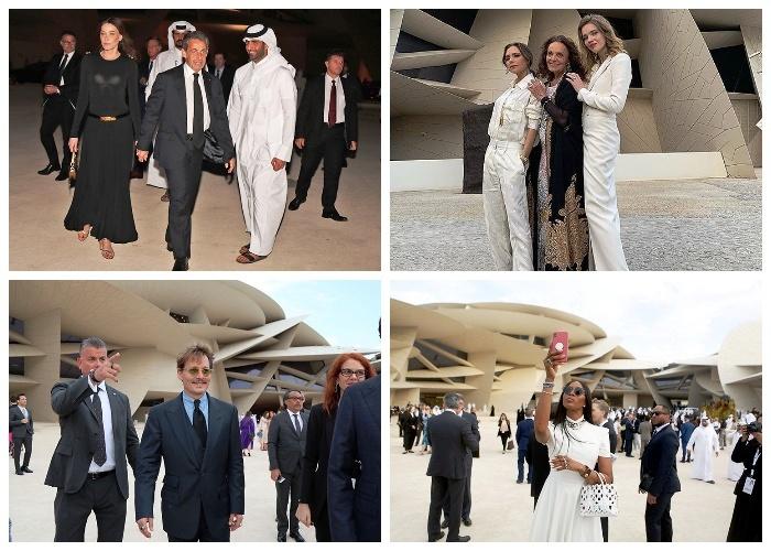 На открытие Национального музея в Катаре прибыло очень много знаменитостей.| Фото: ru.hellomagazine.com.