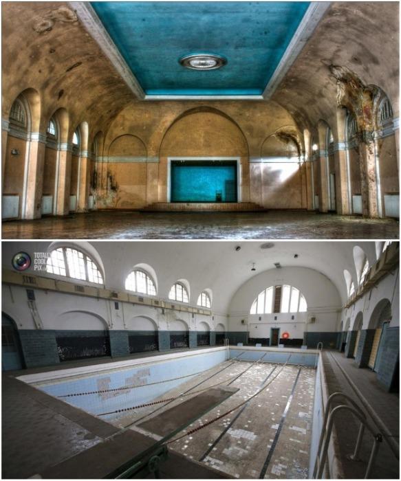 Холл концертного зала и плавательный бассейн на бывшей военной базе в Вюнсдорфе (Германия). | Фото: bigpicture.ru.