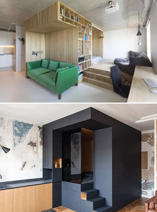 Готовые модульные системы помогут организовать пространство в квартире.
