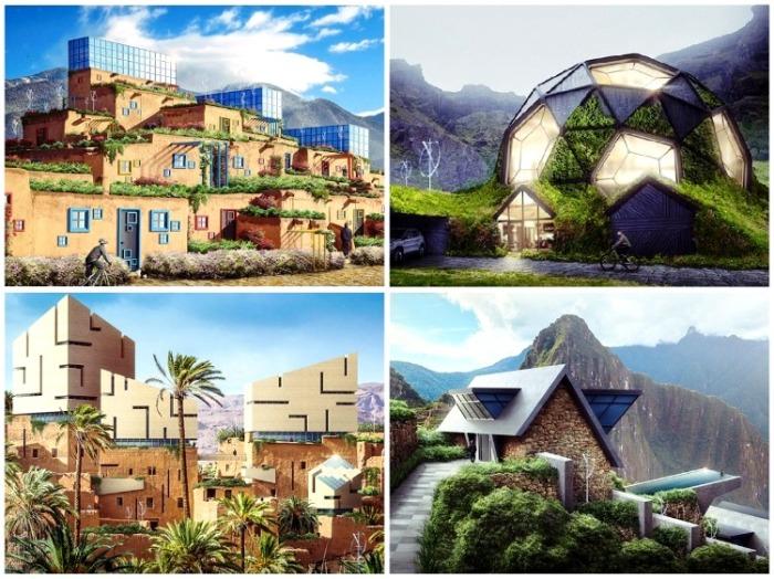 С помощью компьютерной графики современные дизайнеры изменили облик старинных домов до неузнаваемости. | Фото: boredpanda.com.