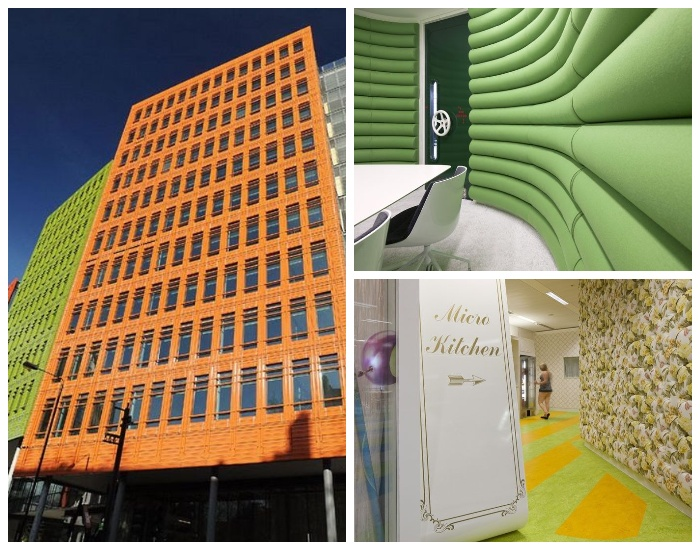 Необычный офис открылся в Лондоне, где все сделано для комфорта сотрудников (Штаб-квартира Google в Лондоне, Великобритания).