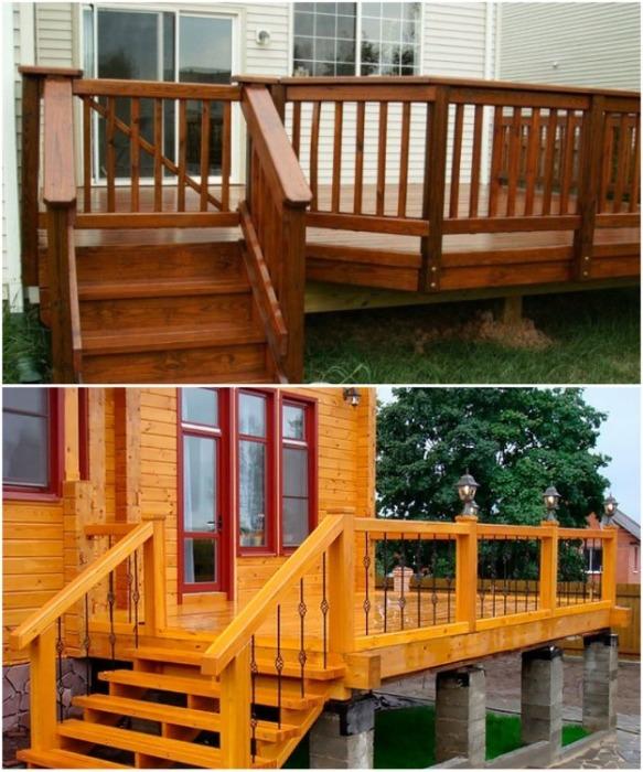 Правильный уход за деревянным настилом и ступенями сохранит конструкцию на многие годы. | Фото: strojchik.ru.