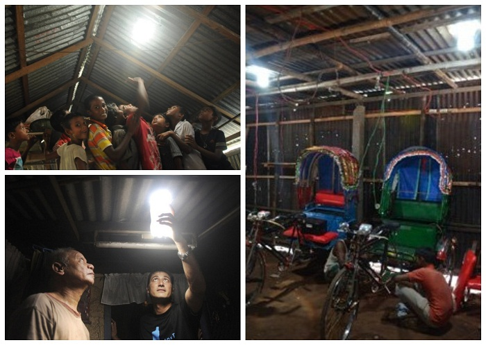 Таким образом можно освещать гаражи, сараи и подвалы.