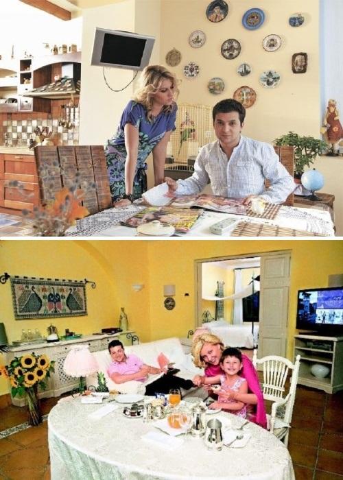 Интерьер гостиной-столовой киевской квартиры семьи Зеленских. | Фото: liveinternet.ru.