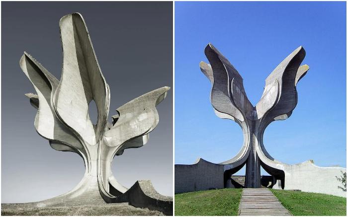 «Каменный цветок» –мемориал на месте бывшего концлагеря Ясеновац (1959-1965 гг., Хорватия).