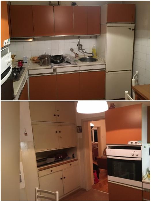 Такой вид кухни новоиспеченных владельцев совсем не устраивал. | Фото: odprtakuhinja.delo.si/ dominvrt.si.