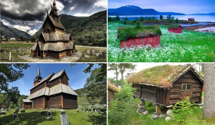 Сказочная красота норвежских средневековых сооружений, которые сохранились до наших дней.